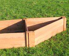 Corner Raised Wooden Beds