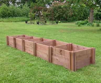 Wooden Herb Garden Beds & Square Foot Gardening