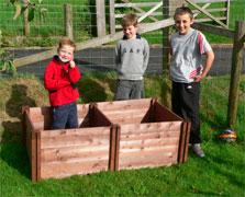 Childrens Wooden Compost Bins - 45cm High