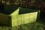 Corner Raised Bed in green