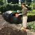 Henchman 380L twin compost tumbler in use