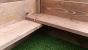 Corner showing both pig rails