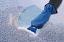 Windscreen ice scraper with mitten