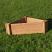 Corner raised bed 60x60x90 x30cm deep