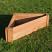 Corner raised bed 90x90x120 x30cm deep