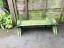 Wooden Trough Manger in Green