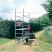 Platform beeing towed using towbar