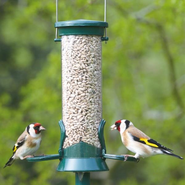 CJW Defender Metal Bird Seed Feeder - Small 2 Port