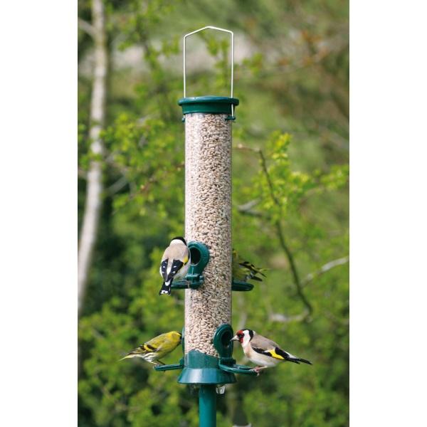 CJW Defender Metal Bird Seed Feeder - Medium 4 Port