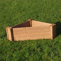 Corner Wooden Raised Bed - 60 x 60 x 90cm