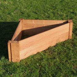 Corner Wooden Raised Bed - 90 x 90 x 120 cm
