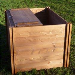 Big Square Wooden Compost Bin Lid