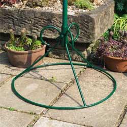 Stabilising Base For Bird Feeder Pole