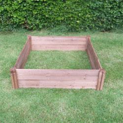 Big Square Wooden Raised Garden Bed 120cm x 120cm