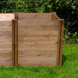 Superior Compact Slim Wooden Compost Bin EXTENSION Module 75 x 72 x 72cm