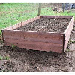 Nine Pack Vegetable Box Wooden Raised Bed - Square Foot Gardening