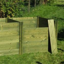 Green Classic Wooden Compost Bin Extension Module 73 x 90 x 90cm
