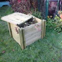 My Real Garden Children's Wooden Compost Bin with Lid