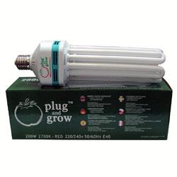Plug & Grow  200W 'Red' Flowering Bulb