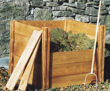 Superior Classic Single Wooden Extendable Slot Down Compost Bin 75 x 90 x 90cm