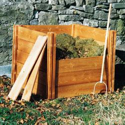 Big Square Single Wooden Compost Bin Ultimate Starter Set - Save 10%