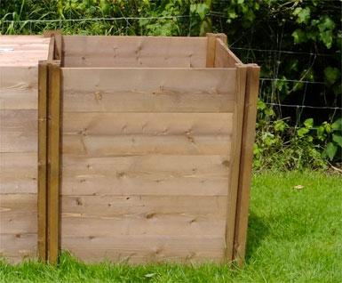 Big Square Wooden Compost Bin Space Saver Extension Module