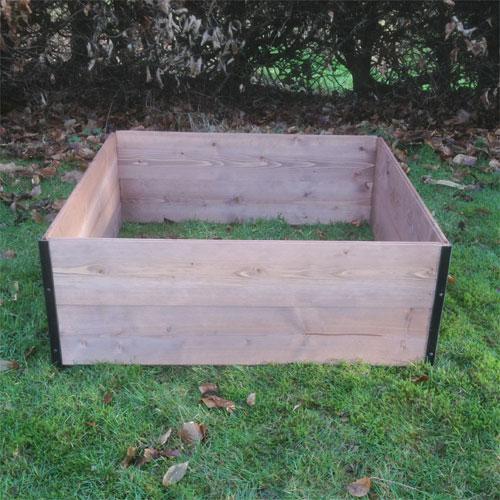 Economy FSC Classic Wooden Raised Bed - 80cm x 80cm