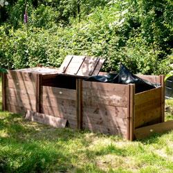 Superior Classic Triple Wooden Compost Bin