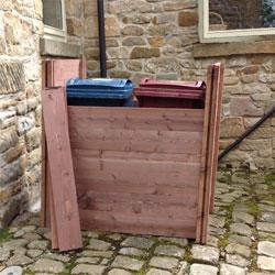 Wooden Wheelie Bin Screens