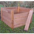 Slight Seconds / Ugly Duckling - Superior Big Square Wooden Compost Bin 75 x 120 x 120cm