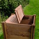 Compact Wooden Compost Bin Lid