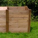 Compact Wooden Compost Bin Extension Module 75 x 72 x 72cm