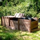 Superior Classic Triple Wooden Extendable Slot Down Compost Bin