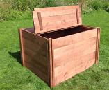 Lid for Long Wooden Compost Bin