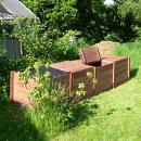 Professional Quad Classic Wooden Slot Down Compost Bin