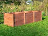 Superior Big Square Triple Extendable Slot Down Wooden Compost Bin