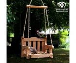 Wooden Swing Seat Bird Feeder