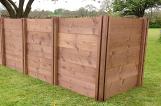 Superior Compact Slim Triple  Wooden Extendable Slot Down Compost Bin 75 x 203 x 72cm